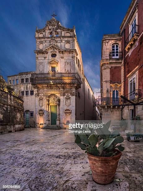 Piazza del Duomo in Syracuse, Sicily, Italy