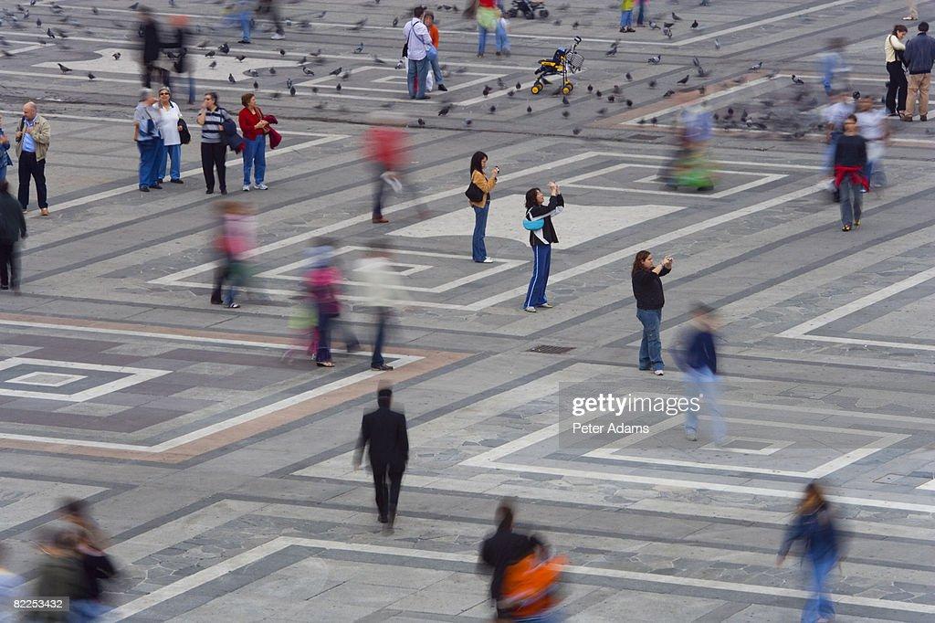 Piazza del Duomo, Milan, Italy : Stock Photo