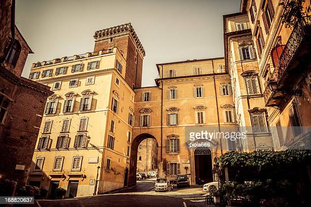 piazza del grillo at monti distric, rome - borough district type stock pictures, royalty-free photos & images