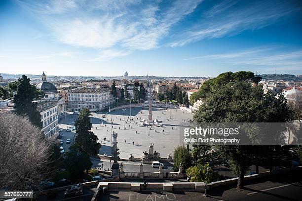 Piazza del Popolo from Pincian Hill, Rome
