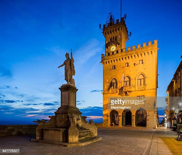 piazza della libertà - republic of san marino stock pictures, royalty-free photos & images