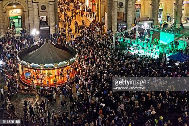 Piazza (square) della Repubblica by night during 'Notte Bianca' event