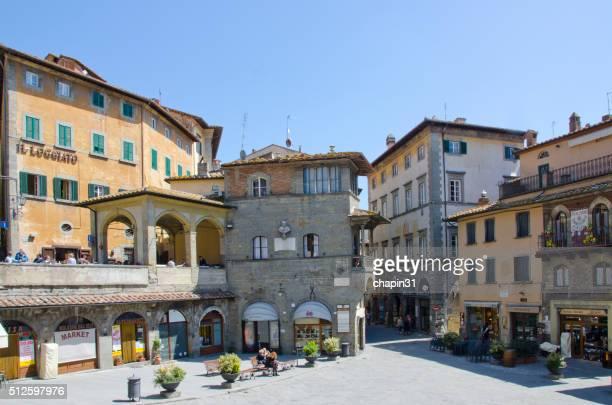 La Piazza della Repubblica au Cortona, Italie
