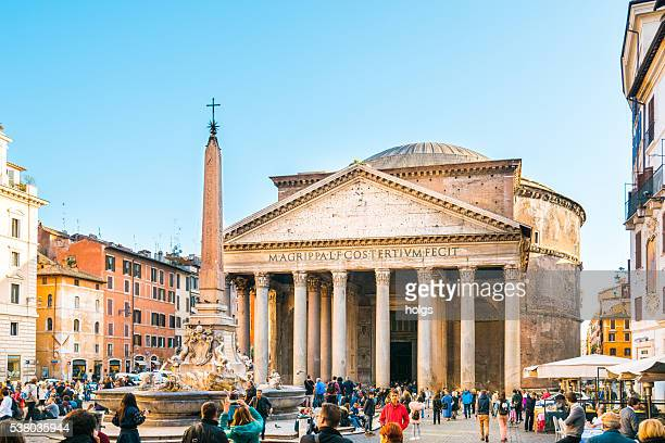 piazza della rotonda in rome, italy - pantheon rome stock photos and pictures
