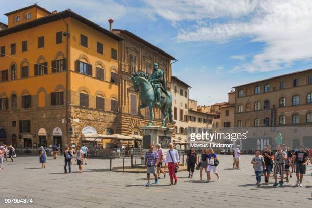 フィレンツェのシニョリーア広場、 - シニョーリア広場 ストックフォトと画像