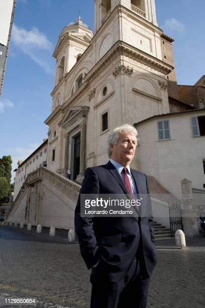 Piazza della Trinit‡ dei Monti Rome Italy September 2007 the British writer Ken Follet