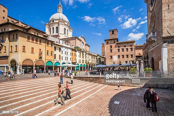 piazza (square) delle erbe - mantua stock pictures, royalty-free photos & images