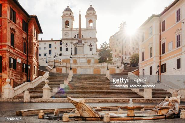 piazza di spagna, rome, italy. no people at sunrise - italy stock pictures, royalty-free photos & images