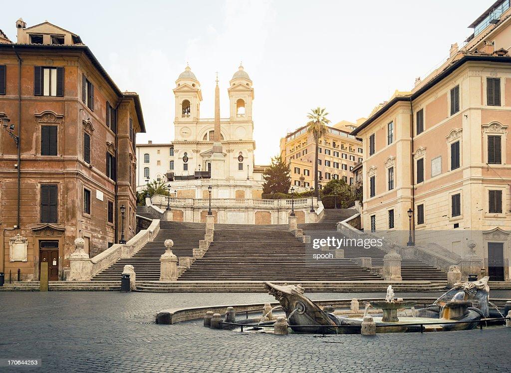 Piazza di Spagna, Spanish steps, Rome : Stock Photo