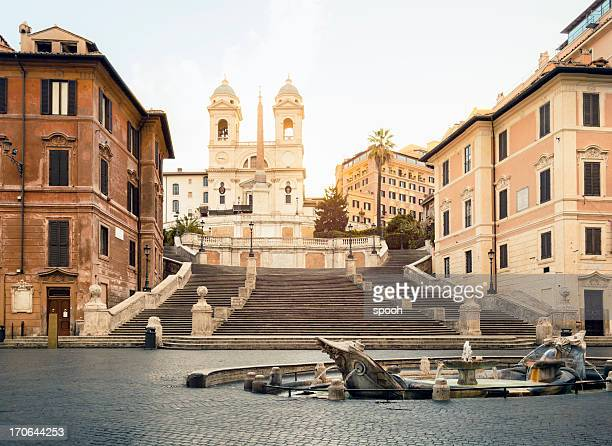 piazza di spagna, spanish steps, rome - roma stock photos and pictures