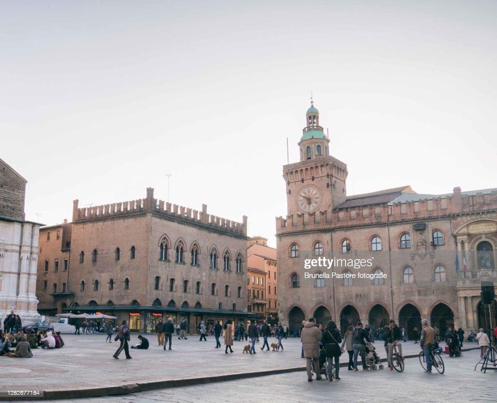 Piazza Maggiore, Bologna : Foto stock