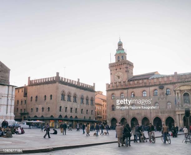 piazza maggiore, bologna - brunella pastore imagens e fotografias de stock