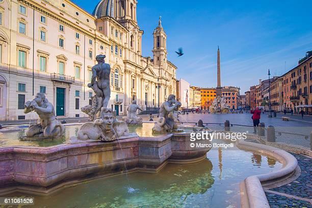 Piazza Navona, Rome, Lazio, Italy.