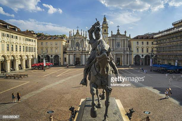 piazza (square) san carlo - turin stock pictures, royalty-free photos & images