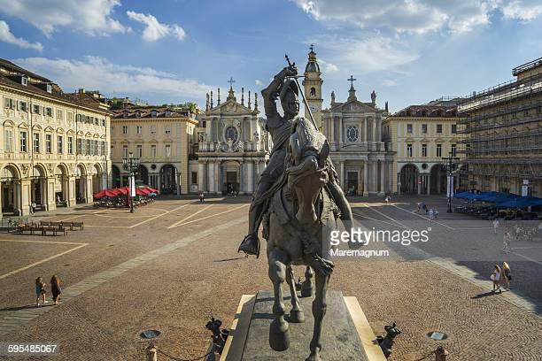 piazza (square) san carlo - turin stockfoto's en -beelden
