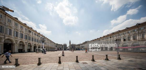piazza san carlo, torino, italy - piazza san carlo stock photos and pictures