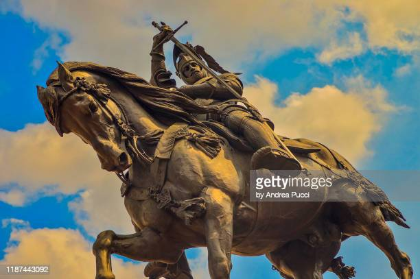 piazza san carlo, turin, piedmont, italy - piazza san carlo stock pictures, royalty-free photos & images
