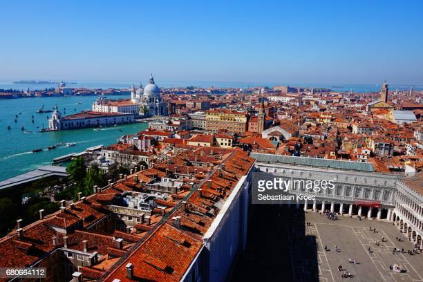 piazza san marco, canal grande and punta della dogana, venice, italy - punta della dogana stock photos and pictures
