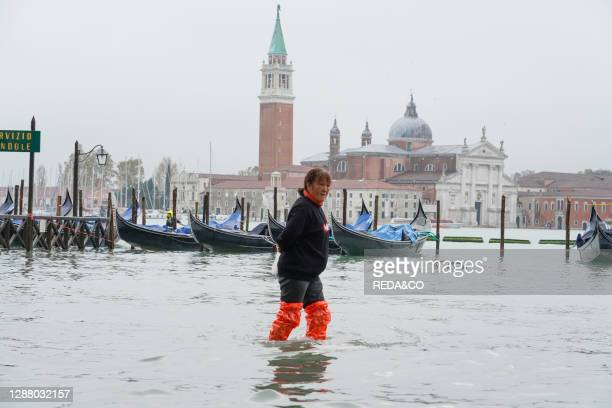 Piazza San Marco square during the high tide in Venice. November. Venice. Italy. Europe.
