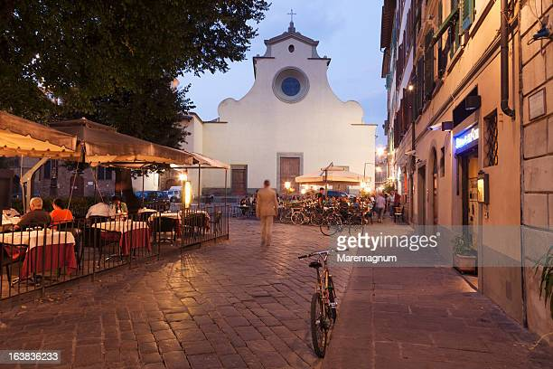 piazza (square) santo spirito - florence italy stock pictures, royalty-free photos & images
