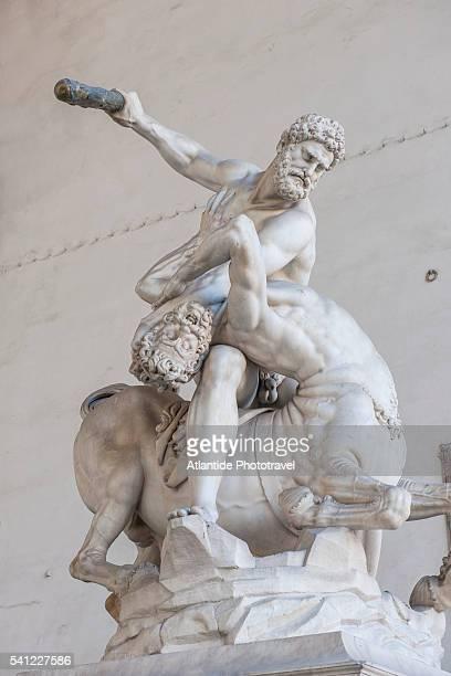 Piazza Signoria, Loggia dei Lanzi, Ercole e il Centauro, by Giambologna