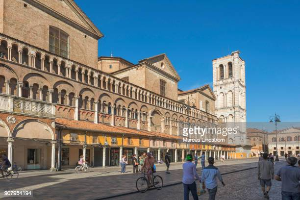 piazza trento and trieste, ferrara - ferrara stock pictures, royalty-free photos & images