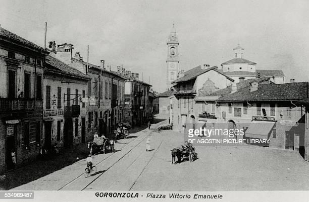Piazza Vittorio Emanuele in Gorgonzola near Milan Lombardy Italy 1929 Italy 20th century