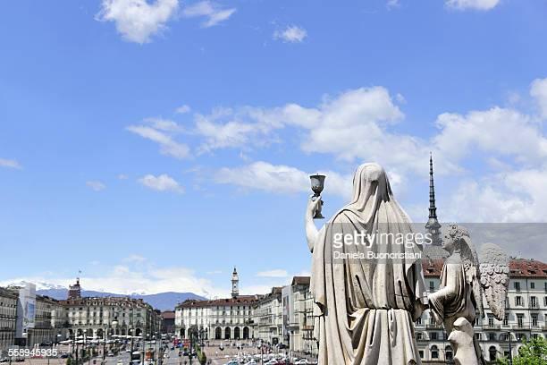Piazza Vittorio Veneto and Mole Antonelliana, Turin, Piedmont, Italy