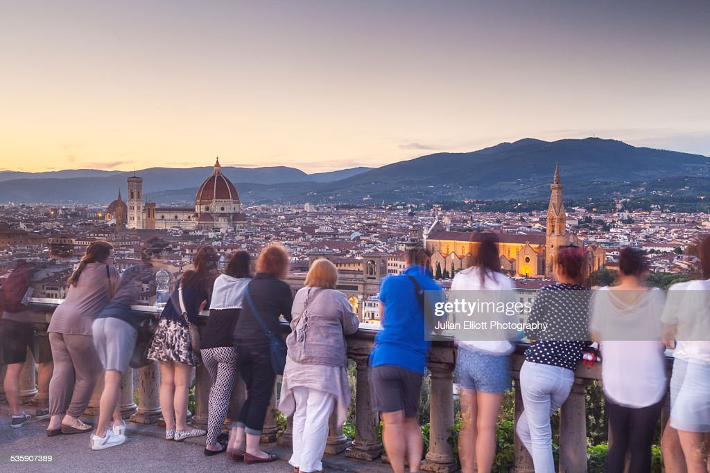 Piazzale Michelangelo in the city of Florence : Stock-Foto