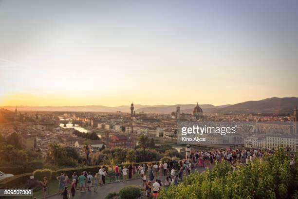 piazzale michelangelo - siena italy stock photos and pictures