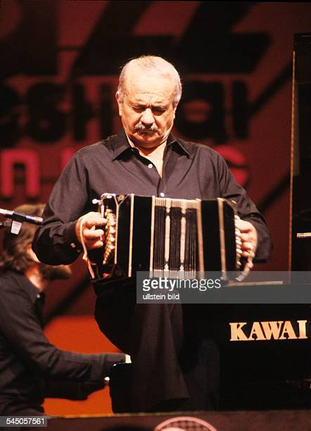 Piazzolla Astor Pantaleon Musician Composer Bandoneon Tango Nuevo Argentina performing at the North Sea Jazz Festival in Den Haag Netherlands