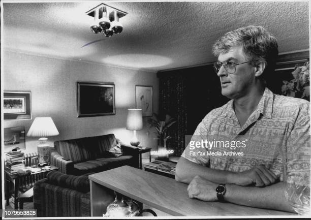 Pic of Tony Buckley who is a Film Producer Pic was taken at his Flat in Lane Cove When we put the Question to Tony Buckley he howled with Laughter...