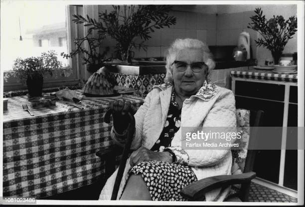 Millie Pengelly 84 ponders her future in her small council owed boarding house at Brighton Bound Bondi September 04 1984