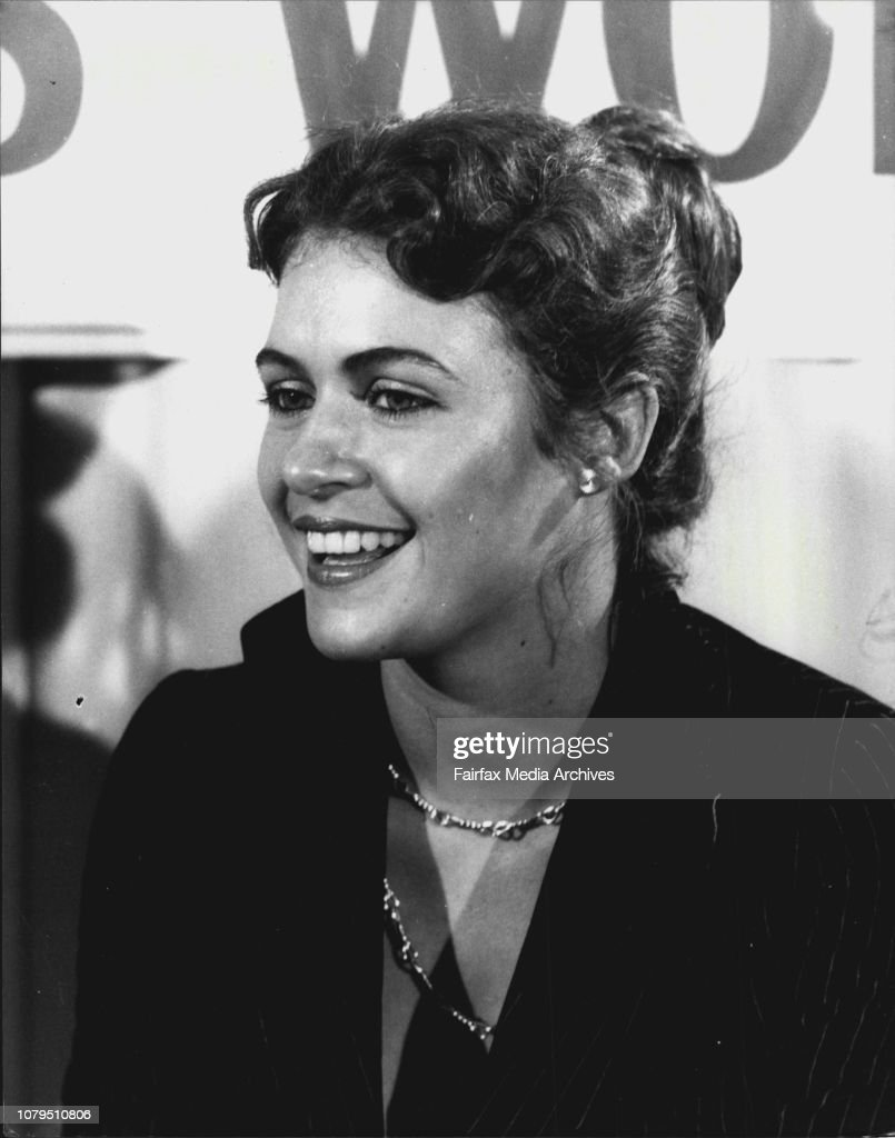 Pic Shows: Cindy Breakspeare from Jamaica answers reporters questions at the press Conference today.Press Conference for Miss World, Cindy Breakspeare at the Gazebo Hotel today. : News Photo