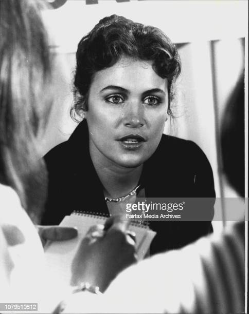 Cindy Breakspeare from Jamaica answers reporters questions at the press Conference todayPress Conference for Miss World Cindy Breakspeare at the...