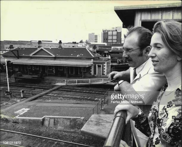 Pic shows Members from the Blacktown an District Historical Society pictured at Blacktown Railway stationleft to Right Mr john Lawson President of...