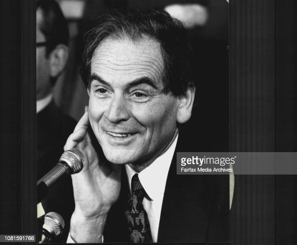 Pierre Cardin during the press conferenceThe famous French fashion designer Pierre Cardin accompanied by six International models held a press...