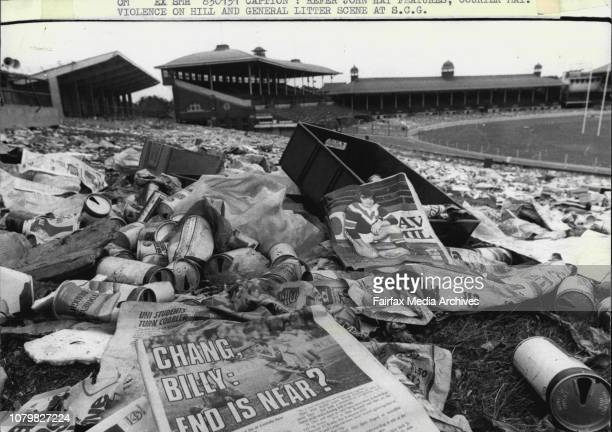 pic-shows-the-cans-and-rubbish-i-on-the-hill-of-the-scg-after-rugby-picture-id1079827224