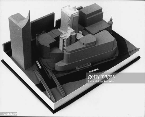 Pic shows...The Trans metro Model photo graphed at Armitage/Johannsen Architects, East Balmain.Jon Johannsen & Trevor Armitage with the model....