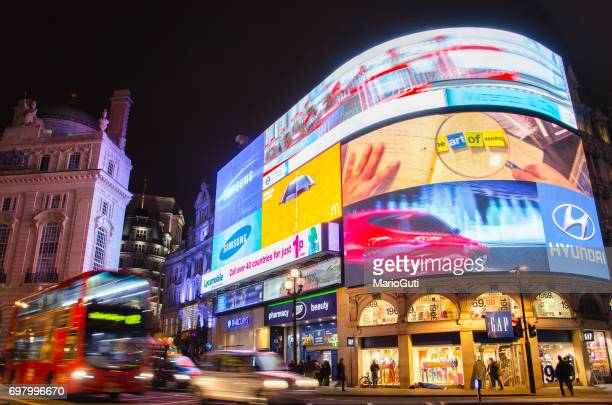 picadilly circus, london. - piccadilly stock pictures, royalty-free photos & images
