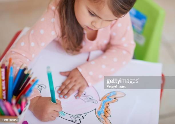 picasso in training - colouring stock photos and pictures