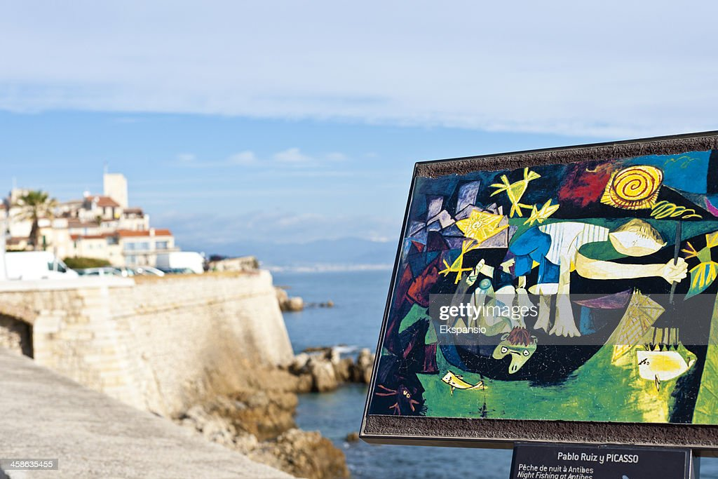 Picasso Painting at Antibes : Stock Photo