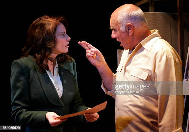 Picasso reacts after Gestapo art critic Miss Fischer exposes the German helmet hidden in a painting of a skull that Picasso did Downey and Peter...