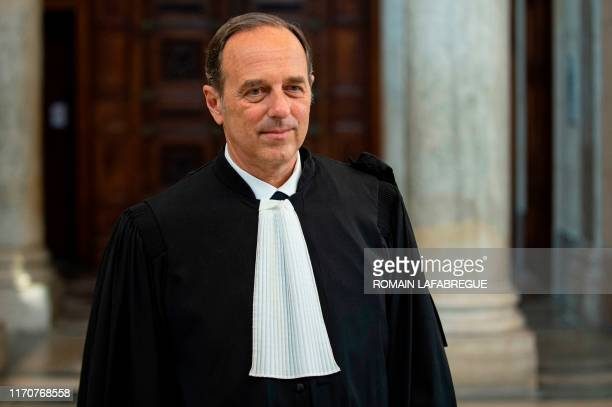Picasso's family French lawyer JeanJacques Neuer leaves Lyon's courthouse on September 24 2019 after a hearing on Pierre Le Guennec's appeal trial on...