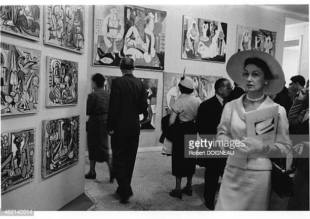 Picasso's paintings exhibit at the Museum Of Decorative Arts 1955 in Paris France