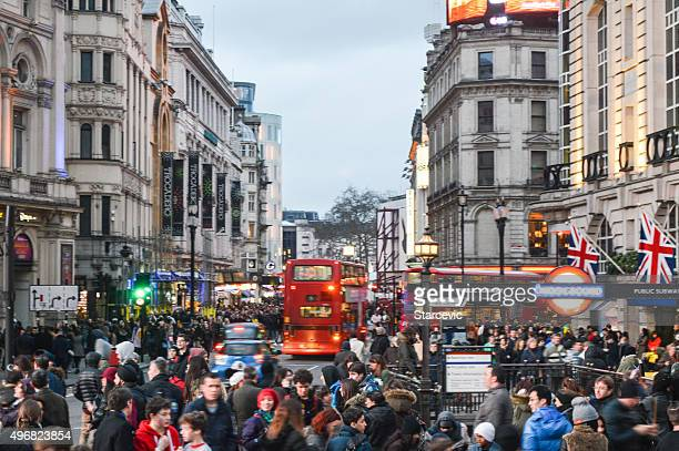 Piccadilly Circus in the evening - London, UK