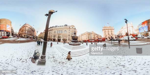 ピカデリー ・ サーカス、ロンドン、360 ° - hdri 360 ストックフォトと画像