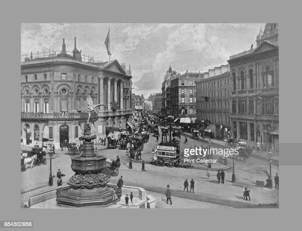 Piccadilly Circus London c1900 From Sights and Scenes in England and Wales [Cassell and Company Ltd c1900] Artist York Son