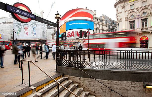 piccadilly circus, london. - shaftesbury avenue london stock photos and pictures