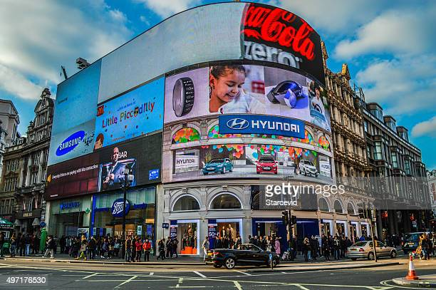 piccadilly circus - london, uk - west end london stock photos and pictures